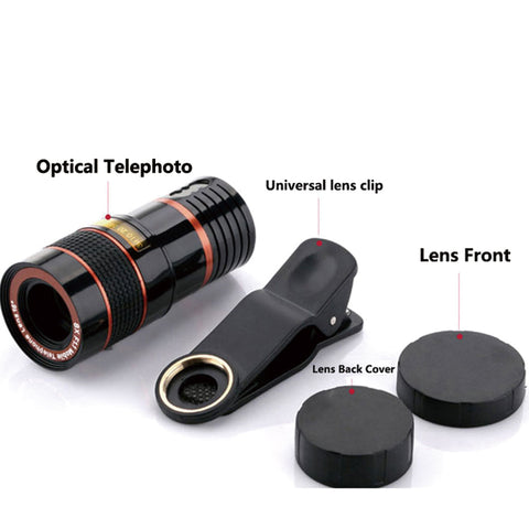 HD 12x Optical Zoom Phone Camera Lens With Clip