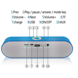 Portable Universal Wireless Bluetooth Speakers Built-in Mic FM Radio