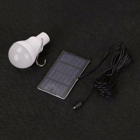 Rechargeable Solar Powered Portable Camping LED Bulb