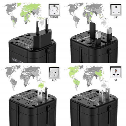 Image of Universal Travel Adapter With USB