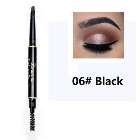 Multi-functional Waterproof Eyebrow Pencil with Brush