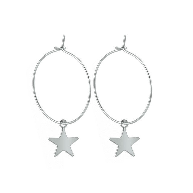 Simple Trendy Star Earrings