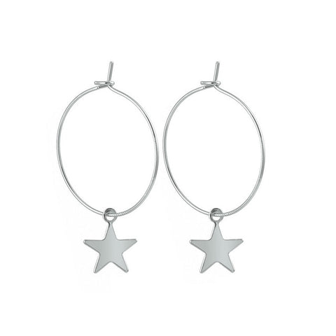 Image of Simple Trendy Star Earrings