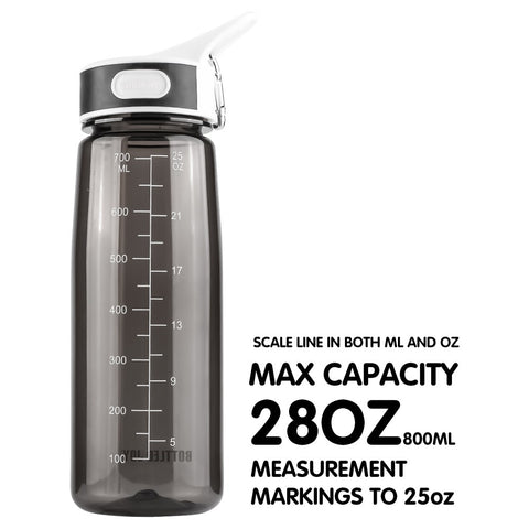 800ml Water Bottle With Straw