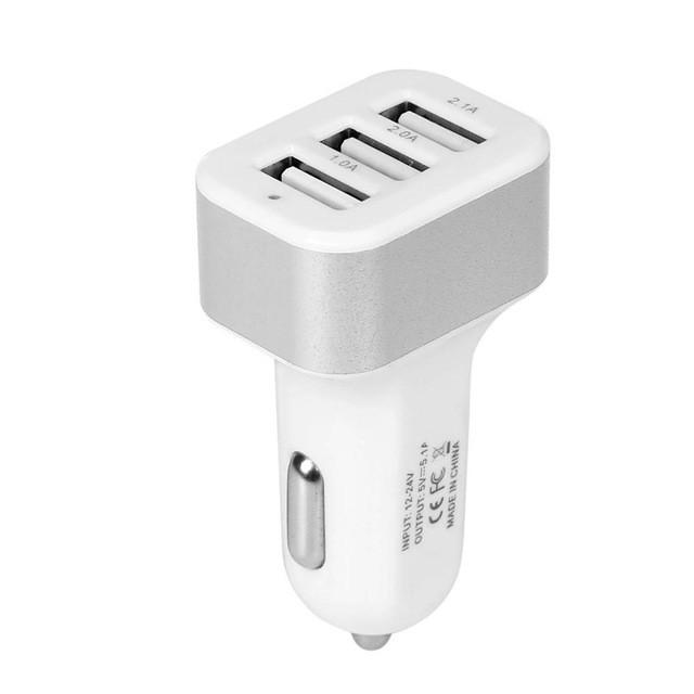 USB Car Charger 3 Port