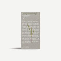 Lemongrass & Ginger loose leaf tea 75g