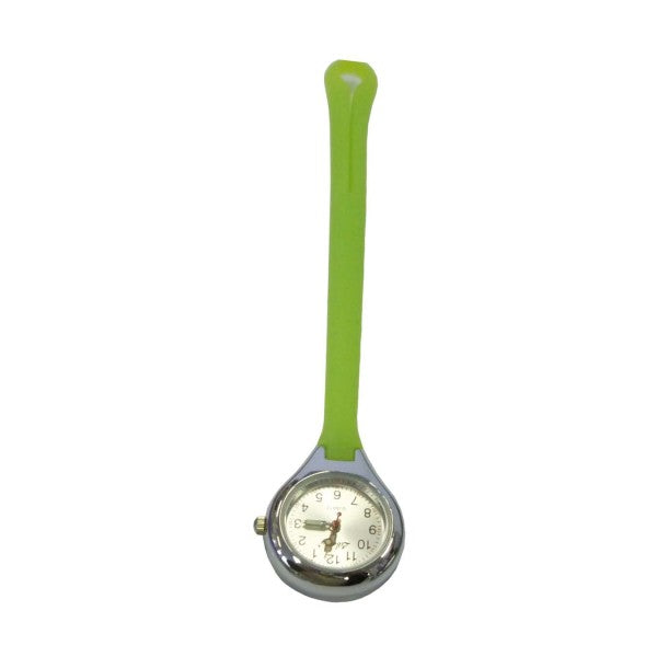 Nurses Watch - Silicon Hang Style Green and Silver