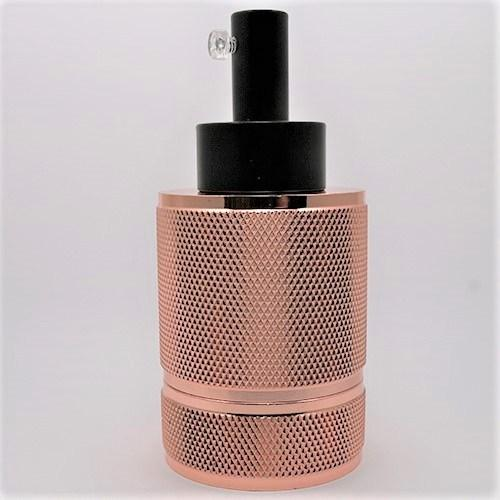 Copper E27 Aluminium Lamp Holder – Threaded