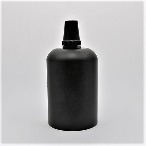 Matt Black Metal E27 Pendant Lamp Holder