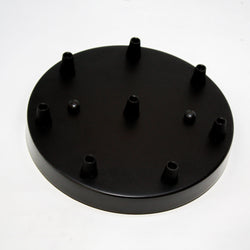 8 Outlet Ceiling Rose Plate | Matt Black