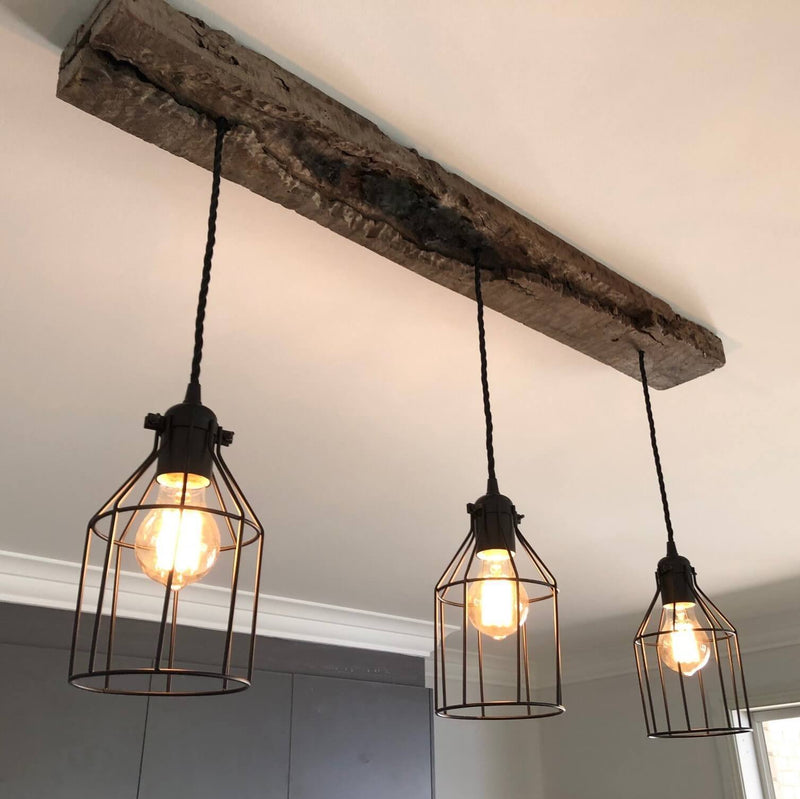 Handcrafted Farmhouse Style Cage Pendant Light Rustic Lighting Co