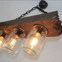 Handcrafted Farmhouse Style Ball Mason Jar Chandelier | Rustic Lighting Co.