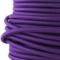 Braided Purple Cloth Covered Cable | 3 Core 0.75mm Flex Per Metre