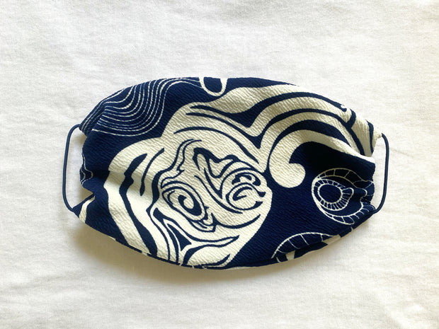 Face Mask - Navy & White