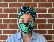 Face Mask - Navy & Green