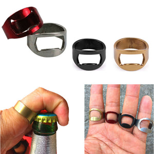 Stainless Steel Finger Ring Mini Bottle Opener