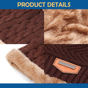Men Winter Beanie Hat Scarf Set