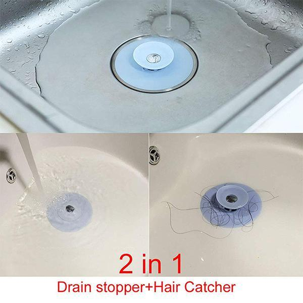 2 In 1 Silicone Water Drain Stopper