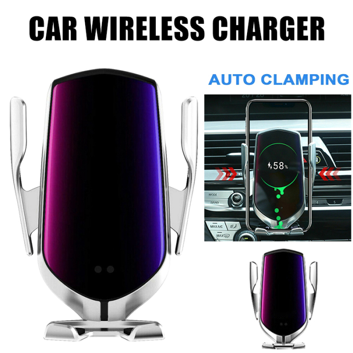 Smart Automatic Infrared Sensor Mobile Phone Wireless Charging Bracket