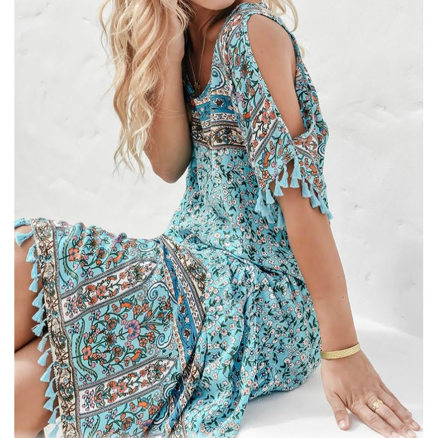 gyselle tassel dress