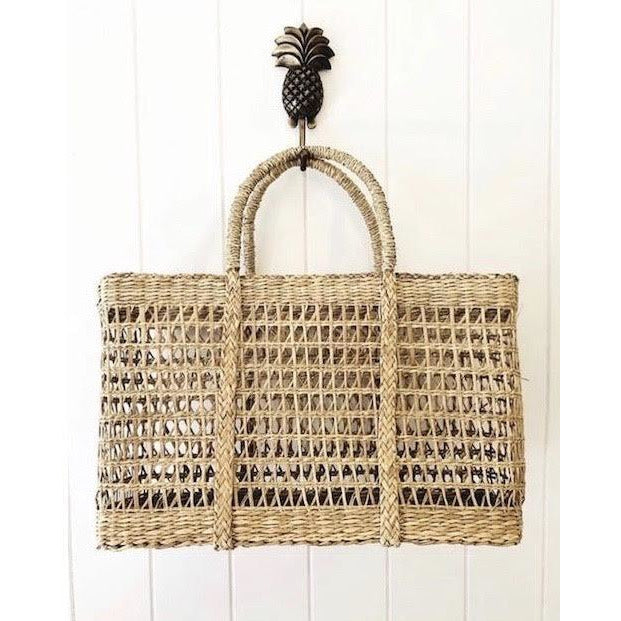 rectangle seagrass net basket - 18A/NET - small