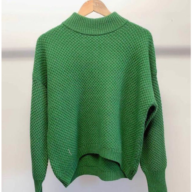 forest green knit - m076