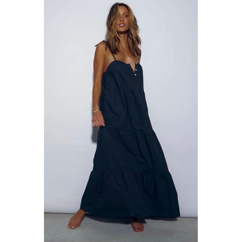st tropez maxi dress - 100% cotton