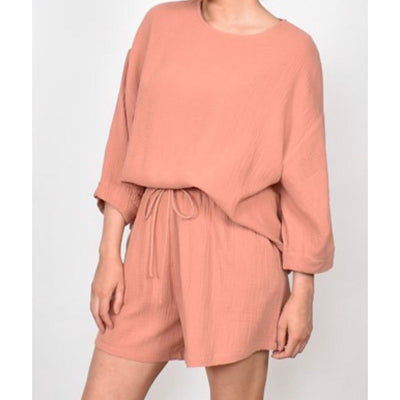 Heidi oversized cotton top