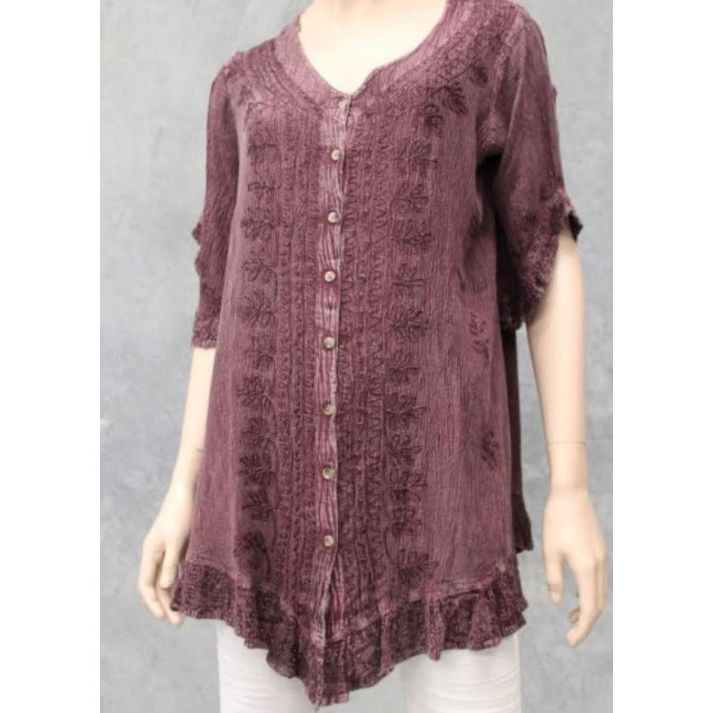frill button top -one size