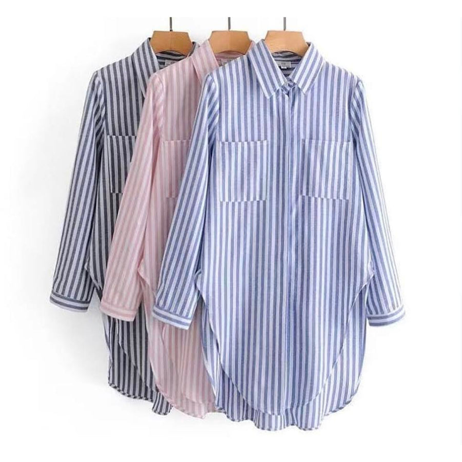 stripy long shirt