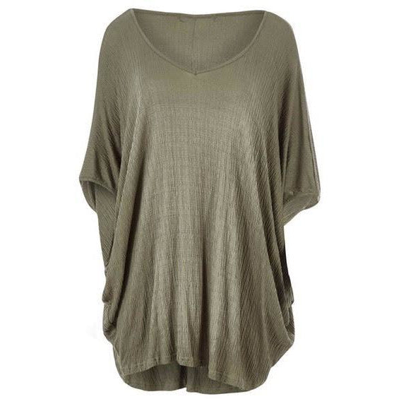 hi low miracle top - khaki one size