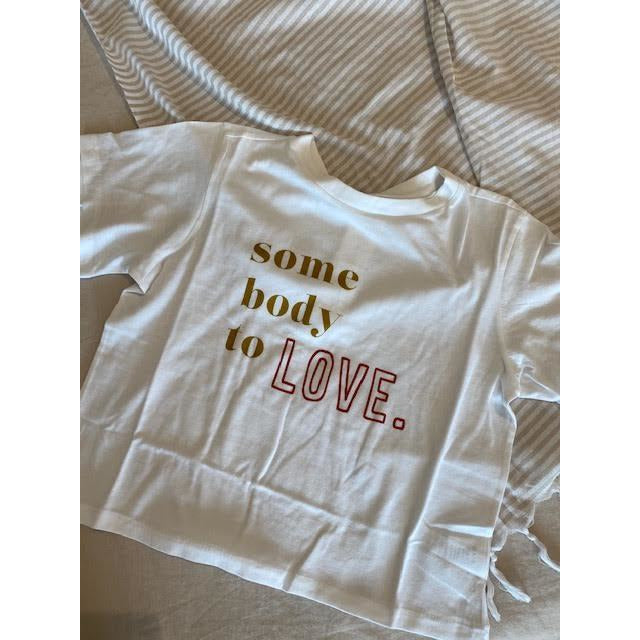 love cropped tee - white