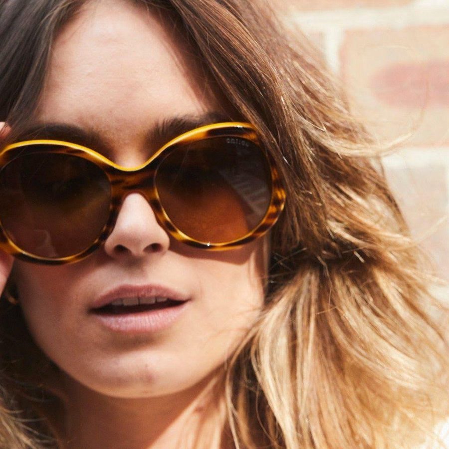 childe wilde drummer honey brown/amber gradient lens sunglasses