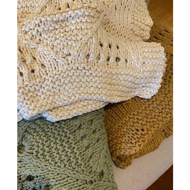 hand knitted throw