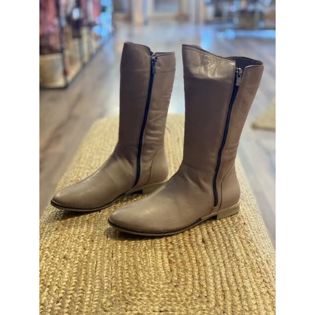 tirzah long boot dark stone ( taupe)