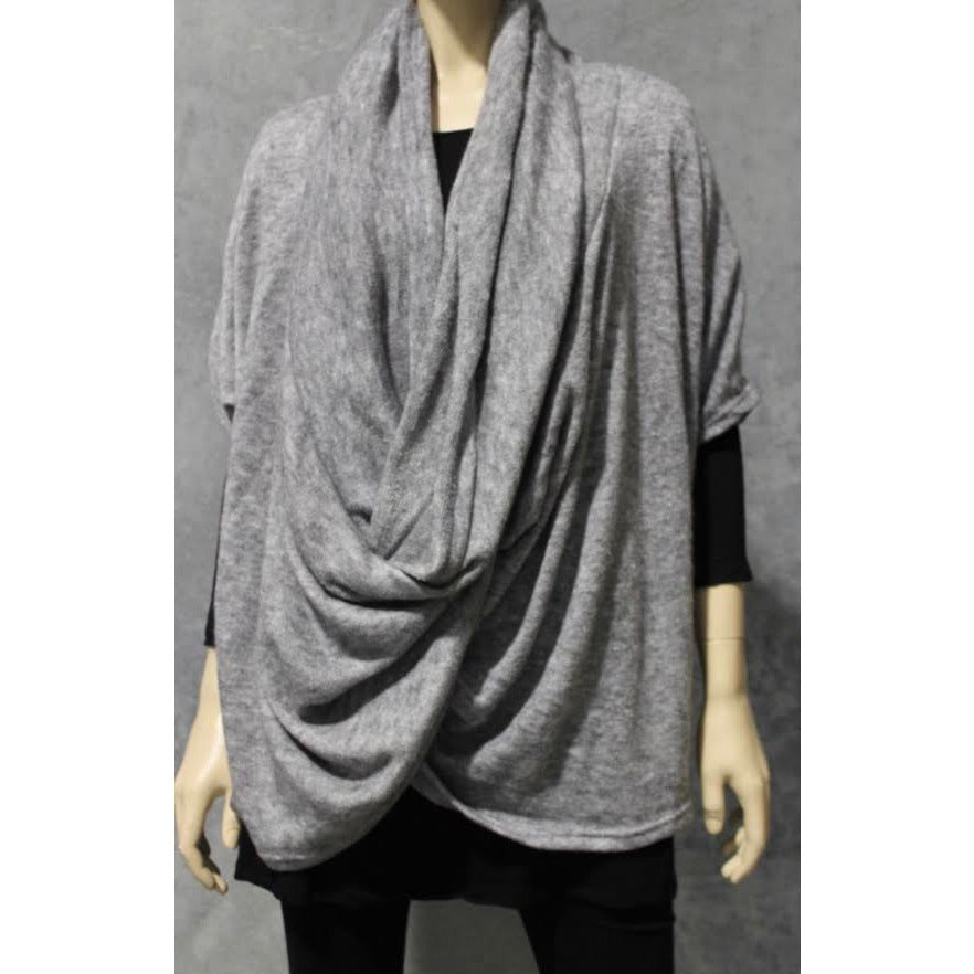 super cowl oversized knit- grey marle- free size