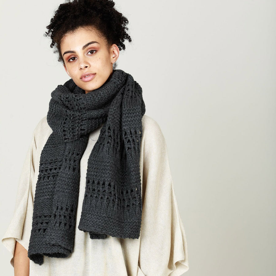 Plymouth scarf CC1505O - charcoal