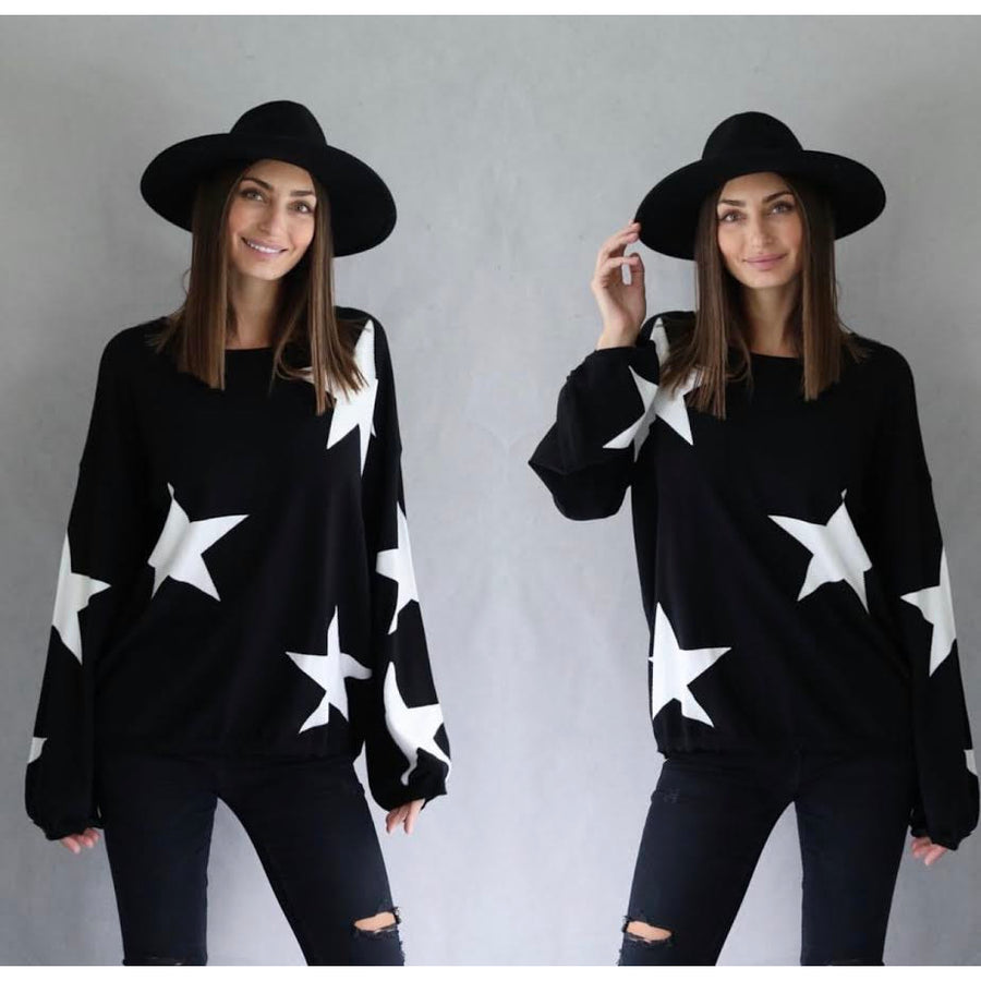 scarlet star knit top black