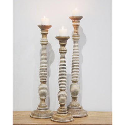 Rydge carved candle holder 958414 - 82cm