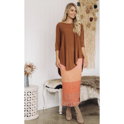 tan knit top