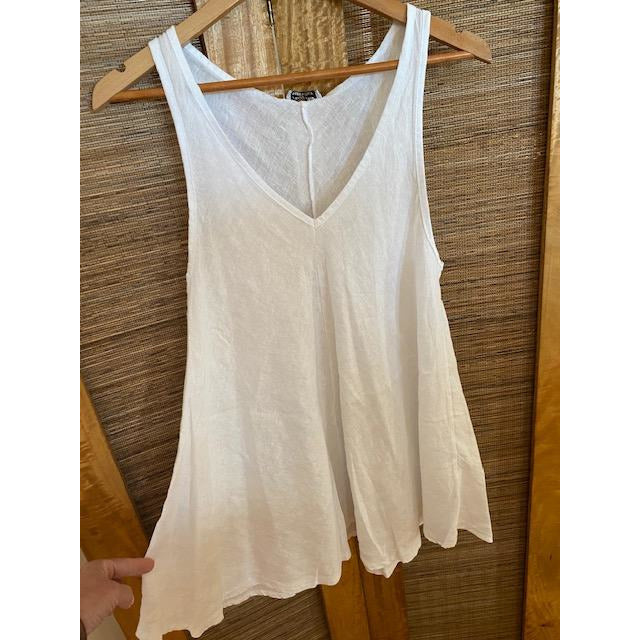 linen top - white - one size 18C1391