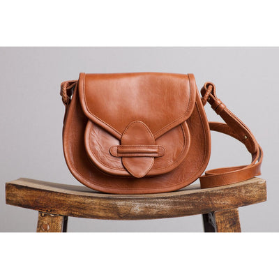 stitch saddle bag walnut leather