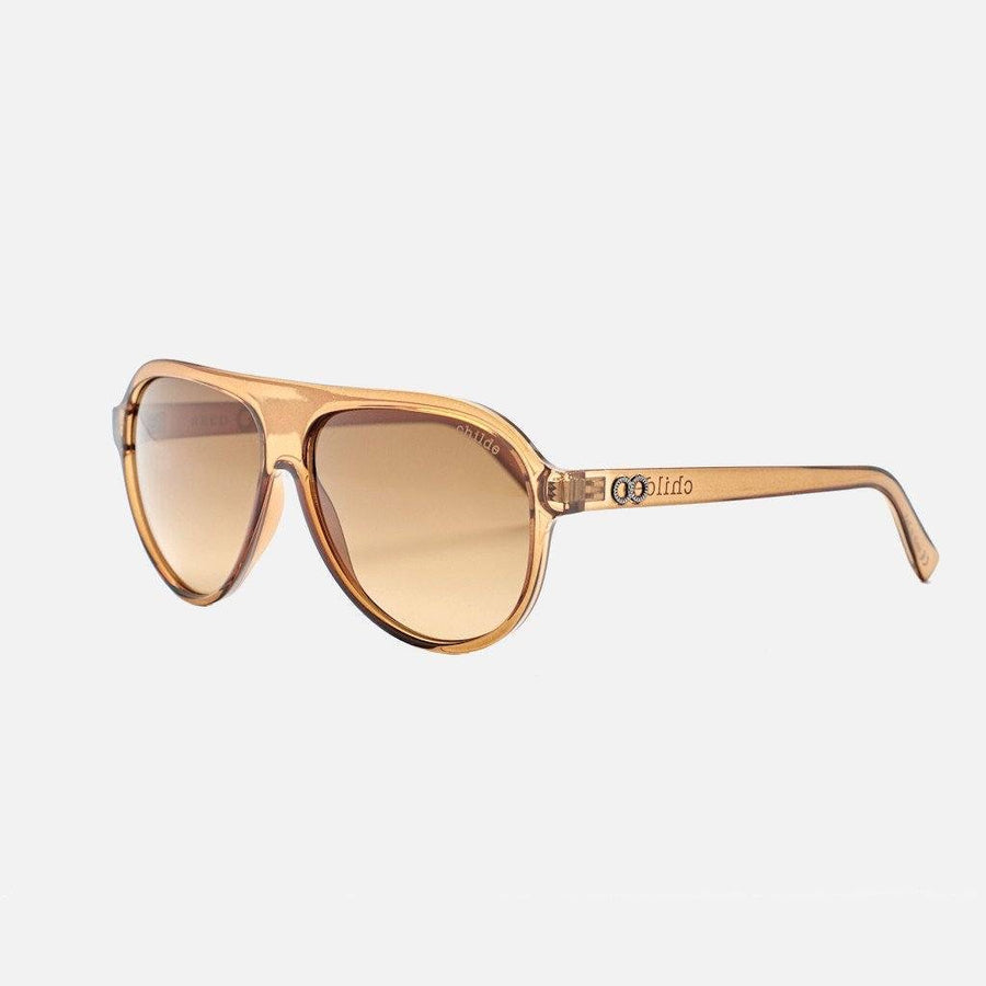 childe wilde reed translucent cola/amber d gradient sunglasses