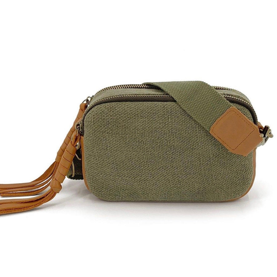 natural camera bag- green