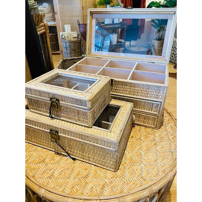 rayna rattan jewellery box 20x15x8cm nat
