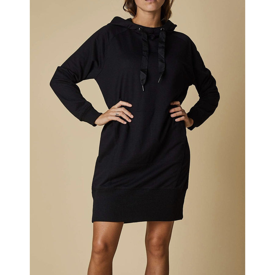 hooded dress - 70124 black