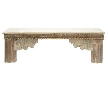 Suuki wooden bench - bleached