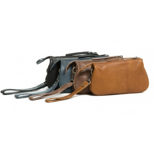 St Kilda Leather Clutch- Brown RH-11647