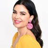 tia duo bead drop earrings - AED-1997-MAGEMULT