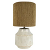 pacifica ceramic lamp - fu3136 white/rope